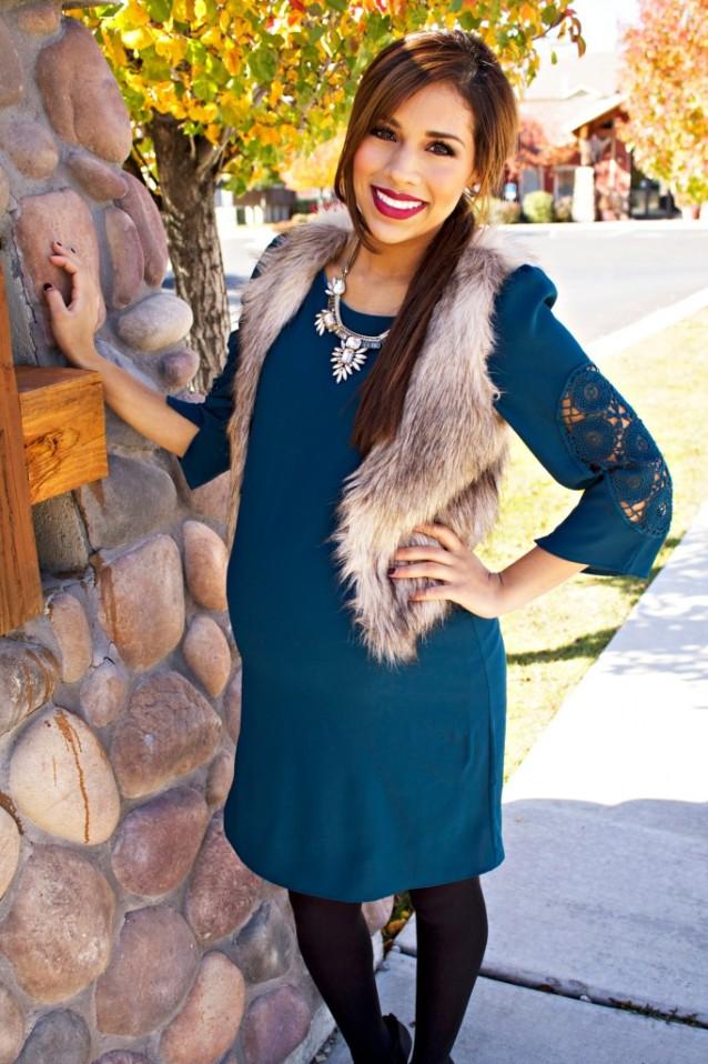 green holiday dress4