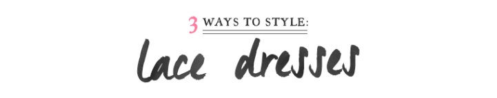 how to style lace dresses